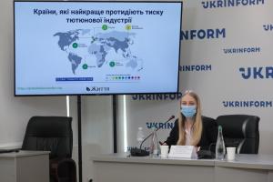 О рейтинге Украины по индексу вмешательства и лоббизма табачной индустрии