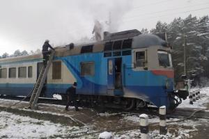 На Волині горів дизель-потяг