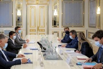 ゼレンシキー大統領、マウラー赤十字総裁と会談