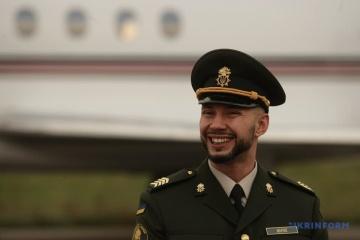Unteroffizier der Nationalen Garde Markiw ist in der Ukraine
