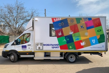 EU, UN hand over mobile administrative service centres to communities in eastern Ukraine