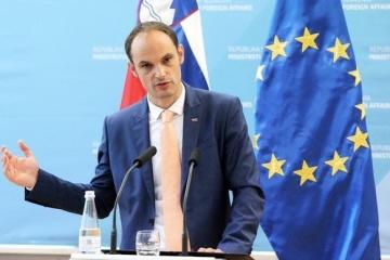 Slowenischer Außenminister reist zu einem zweitägigen Besuch in die Ukraine