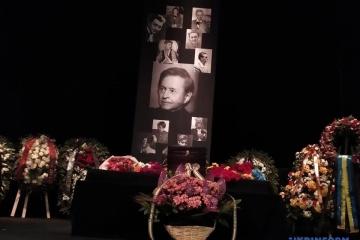 Trauerfeier für Regisseur Roman Wiktjuk in Lwiw