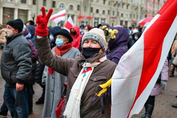 """""""Marsch der Weisheit"""": In Minsk demonstrieren Rentner"""