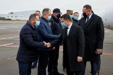 President arrives in Dnipropetrovsk region