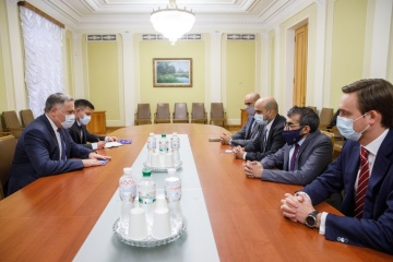 Zhovkva discusses prospects for cooperation with Emirates Defence Industries Company