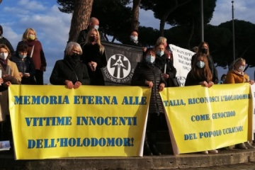Ukrainians in Rome call on Italian parliament to recognize Holodomor as genocide