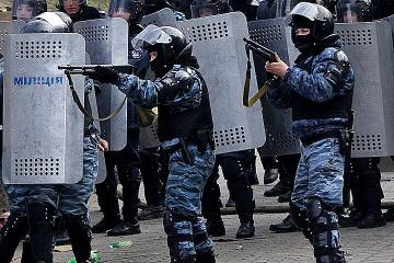 Maidan-Revolution vor sieben Jahren: Erste Auseinandersetzungen mit Polizei