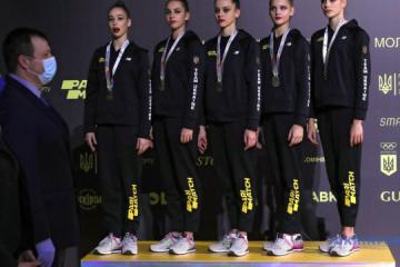 Ucrania gana tres oros en el Campeonato Europeo de Gimnasia Rítmica