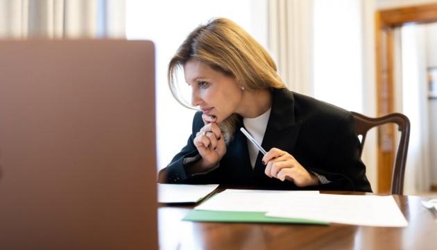 Олена Зеленська закликала не сприймати домашнє насильство як норму