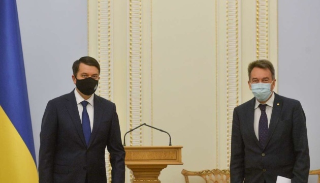 Verkhovna Rada speaker, ICRC president discuss humanitarian situation in Donbas