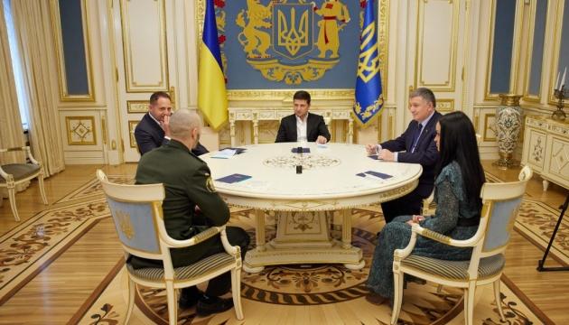 Präsident Selenskyj trifft Vitali Markiw