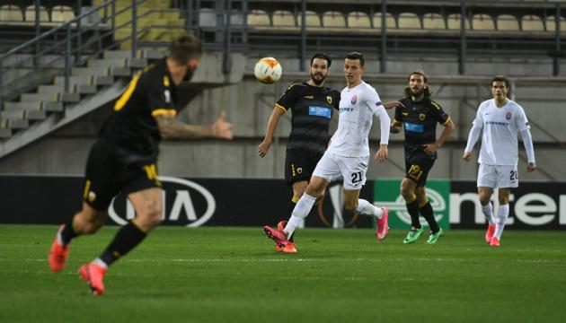 «Заря» проиграла АЕК в матче Лиги Европы УЕФА