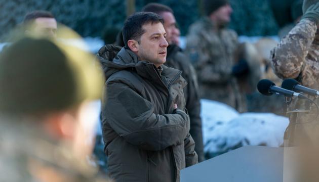 Selenskyj im Donbass eingetroffen
