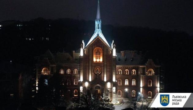 У Львові підсвітили храм Іоана Золотоустого