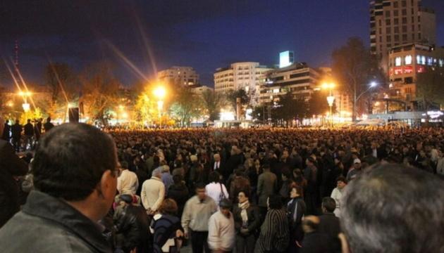 У Вірменії затримали шістьох демонстрантів за підозрою у закликах до захоплення влади