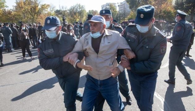 В Єревані протестувальники побилися з поліцією