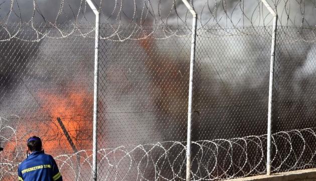 У Греції вдруге за півтора тижня горів табір для мігрантів