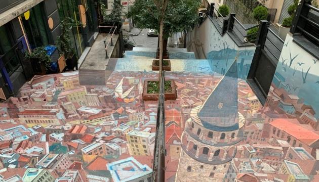Український художник прикрасив вулицю Стамбула 3D-зображеннями