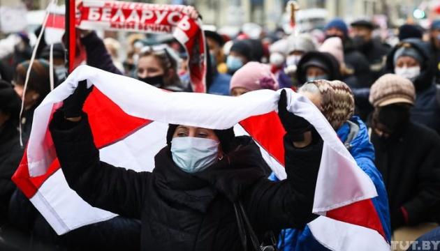 100 Tage der Proteste in Belarus: Marsch von Rentnern in Minsk