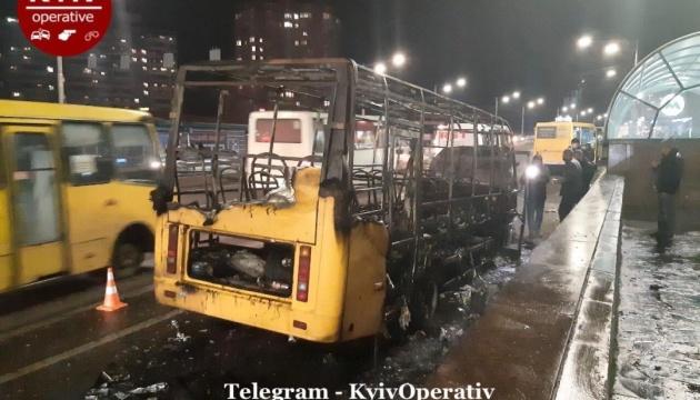 У Києві горіла маршрутка