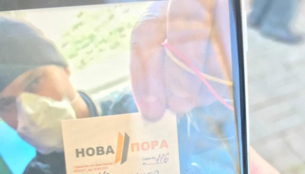 У Дрогобичі зафіксували автобуси з «тітушками-журналістами» на львівських номерах