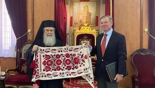 Посол України обговорив з єрусалимським патріархом розбудову ПЦУ