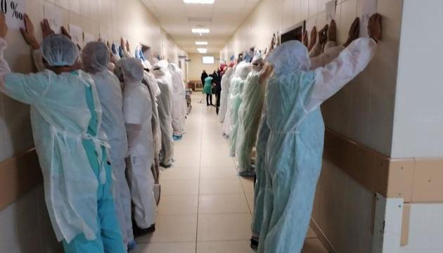 Білоруські лікарі й журналісти провели акцію на підтримку затриманих колег
