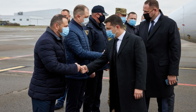 Präsident Selenskyj besucht Region Dnipropetrowsk