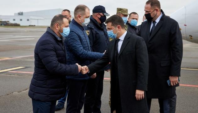 Volodymyr Zelensky en visite de travail dans la région de Dnipropetrovsk