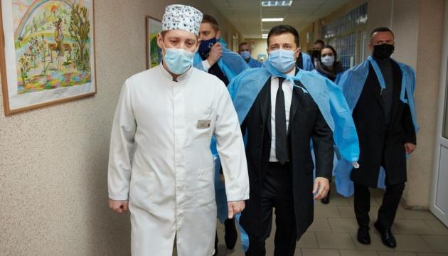 Зеленський відвідав Військово-медичний клінічний центр Східного регіону