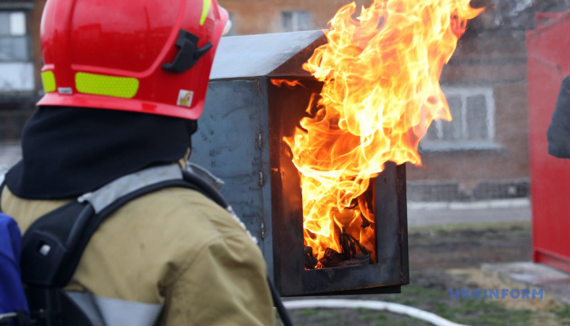 У Харкові майбутні рятувальники вперше гасили пожежу у «Вогневому модулі»