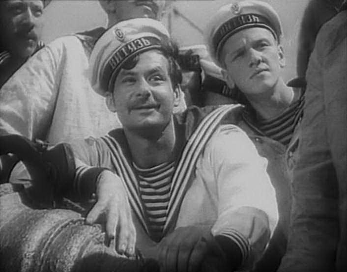 кадр із фільму У далекому плаванні, 1945 р.