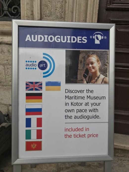 В Морском музее Черногории появился аудиогид украинском