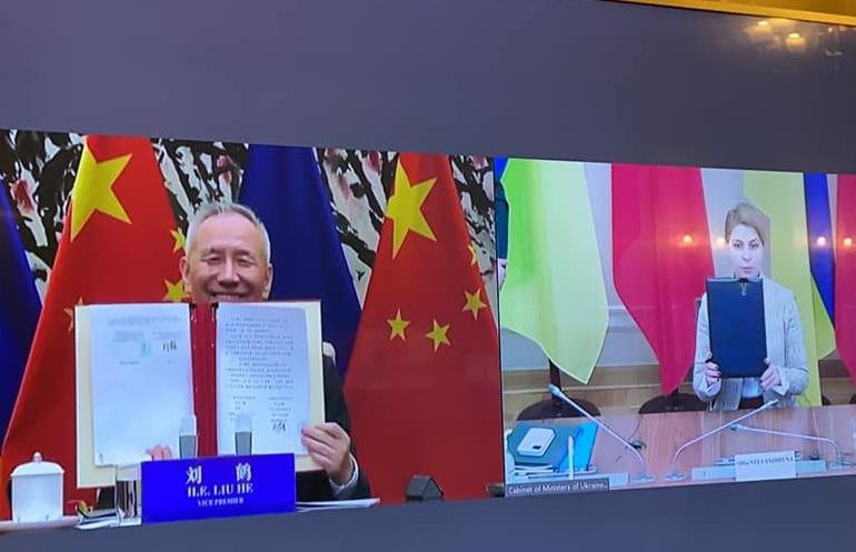 За підсумками засідання Ольга Стефанішина та віцепрем'єр Державної Ради КНР Лю Хє підписали План дій