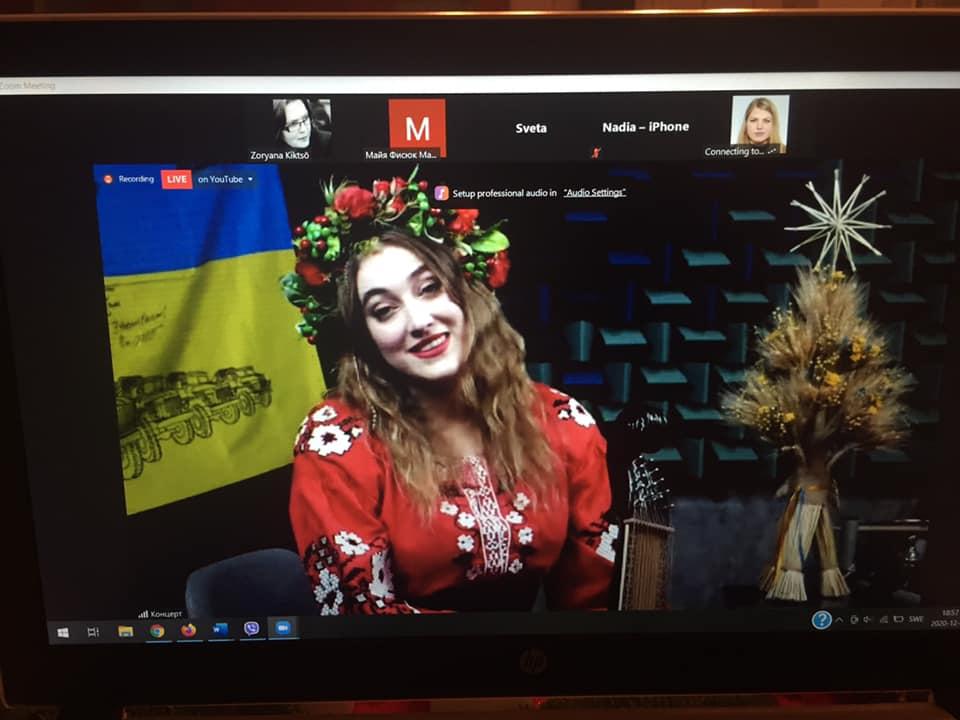 Українська бандуристка Світлана Ніконорова