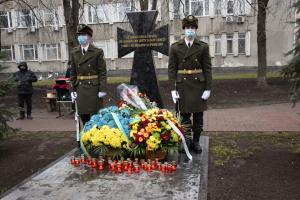 В Подольском районе открыли памятный знак погибшим воинам АТО/ООС