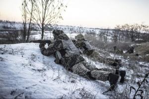 Okupanci wczoraj w Donbasie 5 razy naruszyli zawieszenie broni
