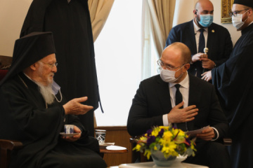 Ukraine's PM meets with Ecumenical Patriarch Bartholomew