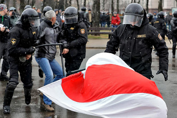 Proteste in Belarus: 344 Personen am Sonntag festgenommen.