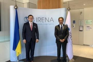 Ukraine's FM, Director-General of IRENA discuss renewable energy cooperation