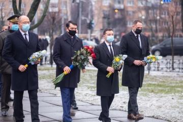 Ukraine leaders honor Chornobyl cleanup workers