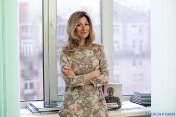 Emine Dzhaparova, primera viceministra de Asuntos Exteriores de Ucrania