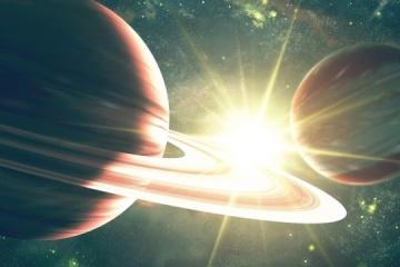 """Saturno y Júpiter formando la """"Estrella de Belén"""""""
