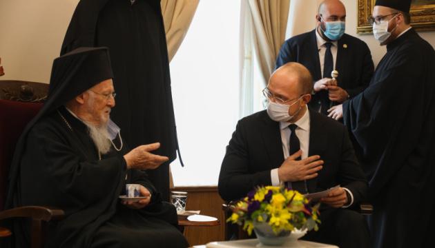 Шмигаль зустрівся у Туреччині із патріархом Варфоломієм