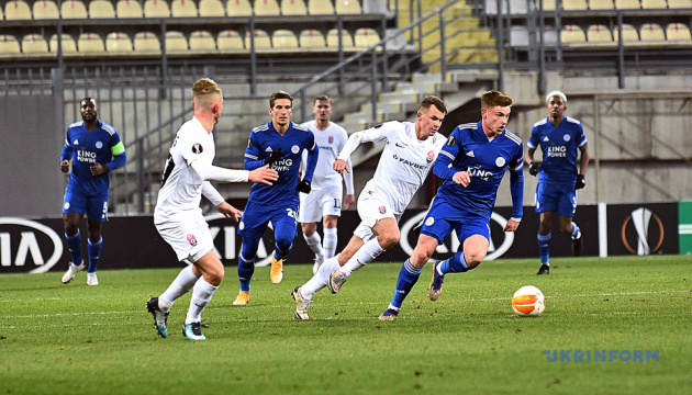 «Заря» обыграла «Лестер» в матче Лиги Европы УЕФА