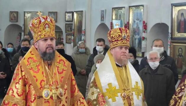 Епіфаній та представник Варфоломія відслужили літургію в Чернігові