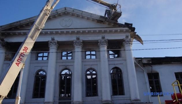 Поліція встановила особу загиблого в пожежі в історичній будівлі Полтави