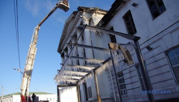 Пожежа в історичній будівлі Полтави: МКІП підключиться до розслідування