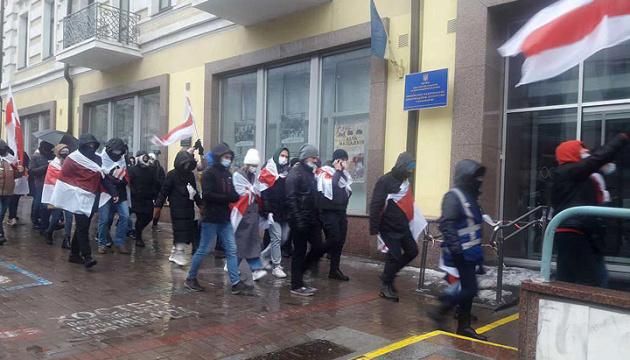 У Києві відбулась акція на підтримку народу Білорусі